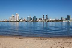 San Diego, California from Coronado - stock photo