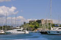 Port of Antibes in France - stock photo