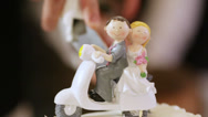 Stock Video Footage of Figures on wedding cake