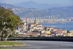 cathedral of vietri sul mare - stock photo