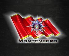 Flag Montenegro quality designer flag Stock Illustration