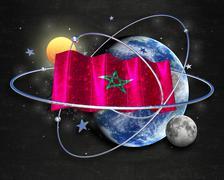 Flag Morocco quality designer flag Stock Illustration