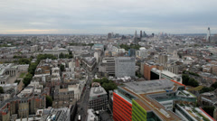 Central London looking east. Stock Footage