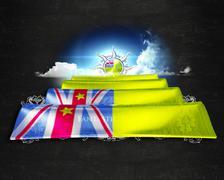 Flag Niue quality designer flag - stock illustration