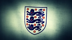 World Cup England Logo Flag Stock Footage