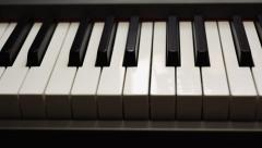 Piano keyboard dolly shot Stock Footage