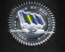 Flag Palau quality designer flag Stock Illustration