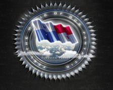 Flag Panama quality designer flag Stock Illustration