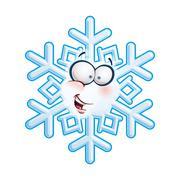 Stock Illustration of snowflake head - hi