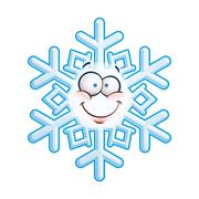 snowflake head -  smiley - stock illustration