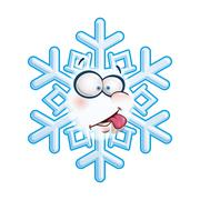 Snowflake head - tongue Stock Illustration