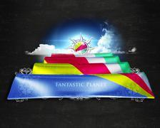 Flag Seychelles quality designer flag - stock illustration