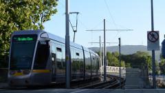 Trams in Dublin Stock Footage