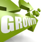 Stock Illustration of Growth arrow in green