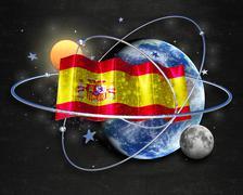 Flag Spain quality designer flag - stock illustration