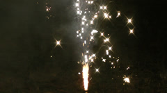 Firework sparkler in HD Stock Footage