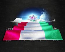 Flag Tajikistan quality designer flag Stock Illustration