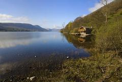 Ullswater boathouse Stock Photos