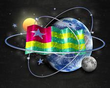 Flag Togo quality designer flag Stock Illustration