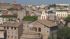 Panoramic view panorama skyline cityscape sightseeing Rome sunny day building  Stock Footage