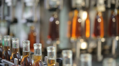 Complete bottle of cognac Stock Footage