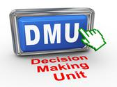Stock Illustration of 3d hand cursor - decision making unit button