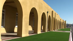 Spanish Style Cloister with Shadows Stock Footage