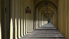 Spanish Style Cloisters Zoom out Stock Footage