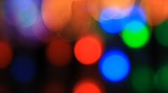 Colorful bokeh lights Stock Footage