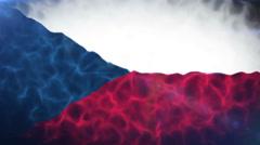 Czech Republic Flag V2 Loop Stock Footage