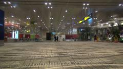 Interior scene of Singapore Changi Airport Stock Footage