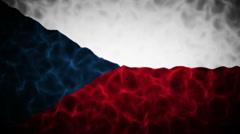 Czech Republic Flag Loop Stock Footage
