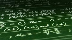Loop Mathematics Looping chalkboard blackboard background Stock Footage