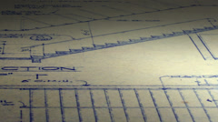 Looping Blueprints Architectural Plans Background Stock Footage