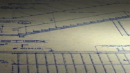 Stock Video Footage of Looping Blueprints Architectural Plans Background