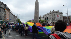 Gay Parade Dublin Ireland Stock Footage