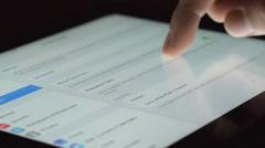 Apple ipad Settings - stock footage