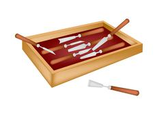 Set of Carving Tools in A Box - stock illustration