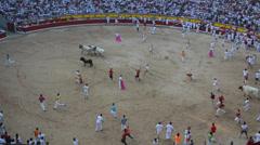 Bullfight in Pamplona, Spain. - stock footage