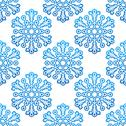Stock Illustration of decorative seamless pattern with snowflakes