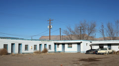 Motel Rural Setting Wild West American Stock Footage
