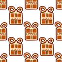 Stock Illustration of gingerbread presents seamless pattern