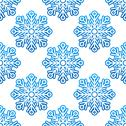 Stock Illustration of winter semless pattern with blue snowflakes