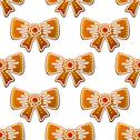 Stock Illustration of christmas gingerbread bows seamless pattern