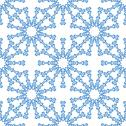 Stock Illustration of snowflakes seamless pattern for winter design