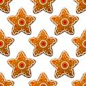 Stock Illustration of gingerbread stars seamless pattern
