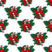 Christmas candy stick seamless pattern Stock Illustration