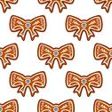 Stock Illustration of gingerbread bows seamless background