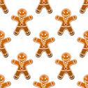 Stock Illustration of gingerbread man cookie seamless pattern