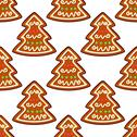 Stock Illustration of gingerbread new year tree seamless pattern
